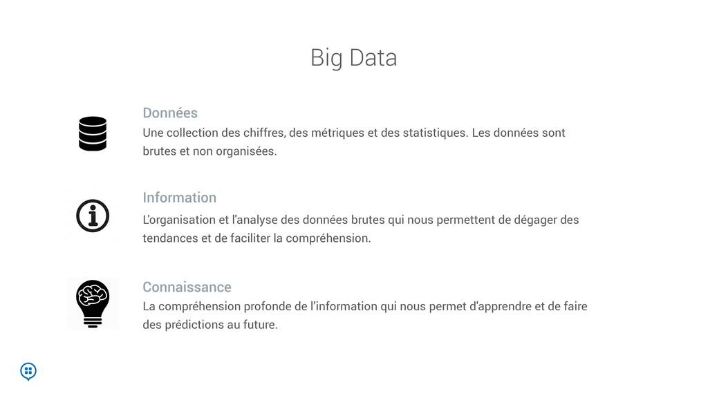Big Data Une collection des chiffres, des métri...