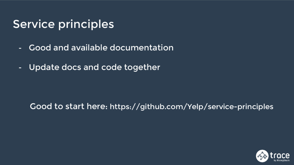 - Good and available documentation - Update doc...