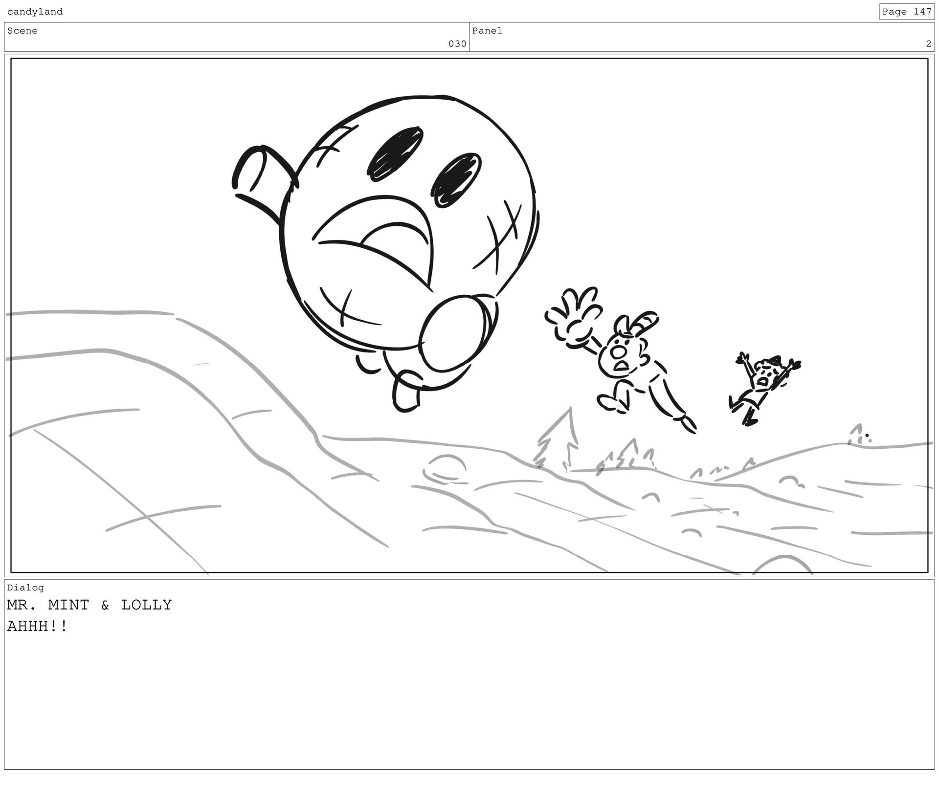 Scene 35 Panel 3 Dialog LOLLY NO MORE FOOD PUNS...