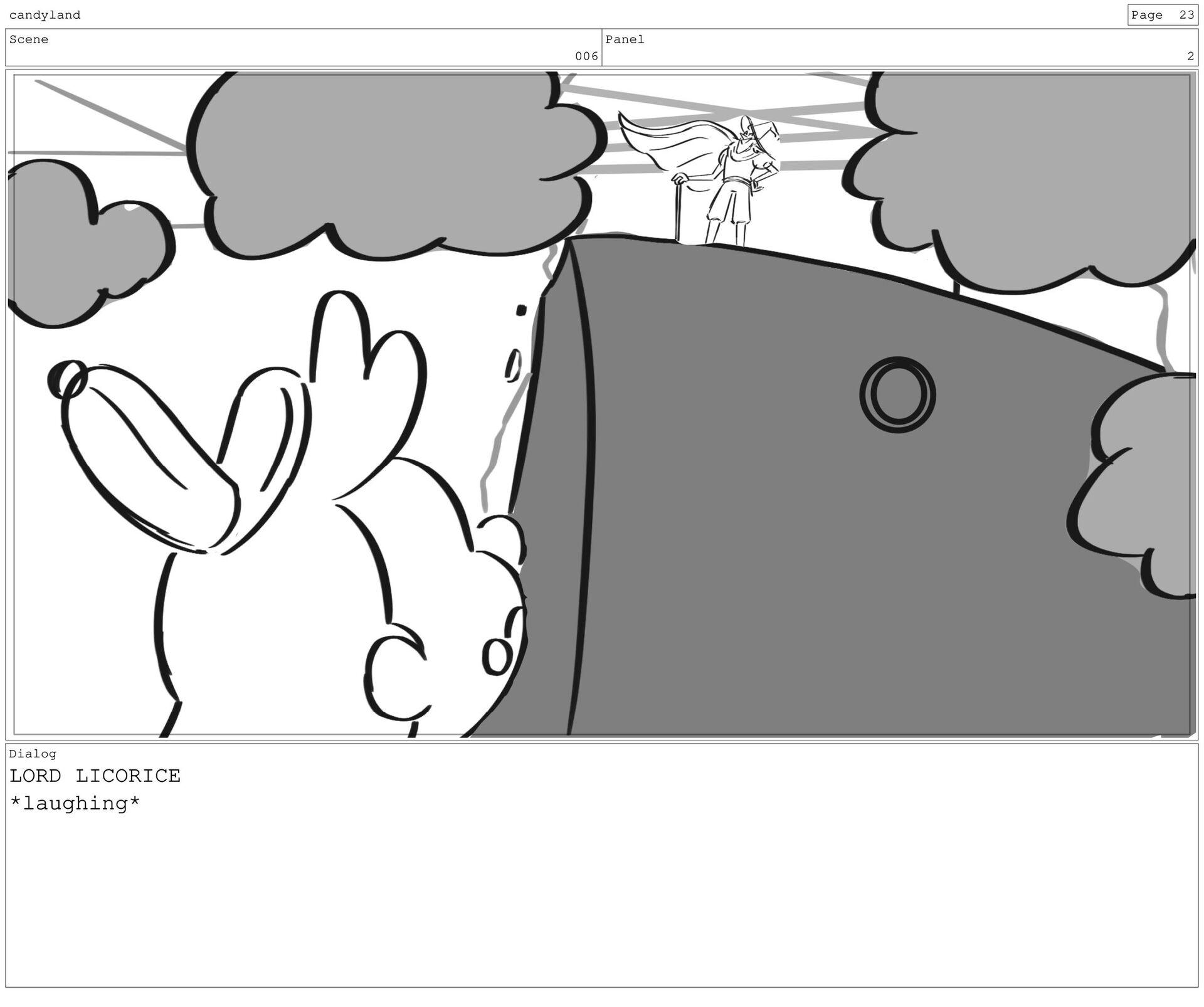 Scene 6 Panel 2 Dialog LORD LICORICE *laughing*...