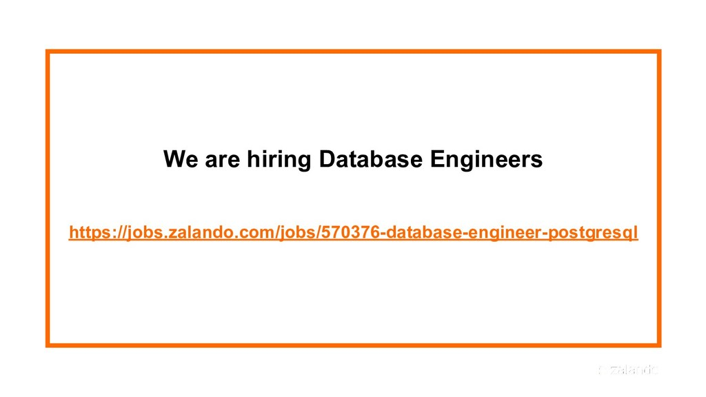 We are hiring Database Engineers https://jobs.z...