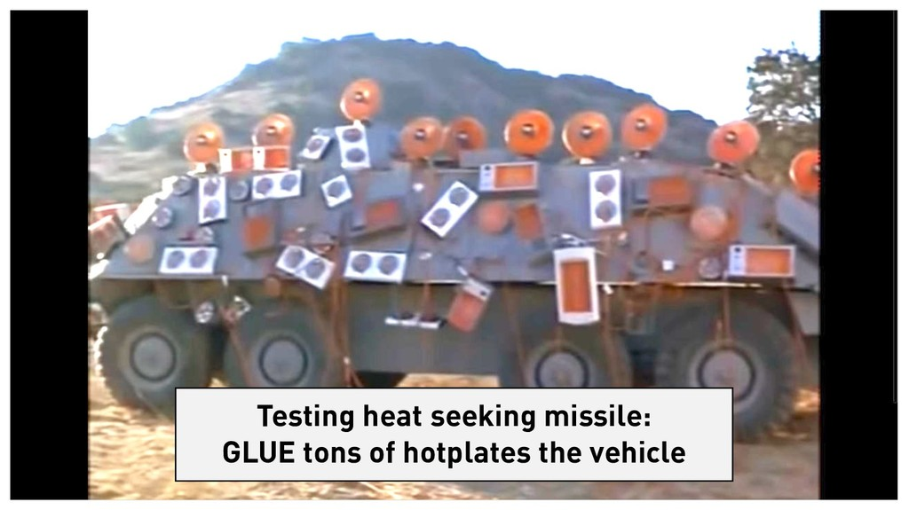 Testing heat seeking missile: GLUE tons of hotp...