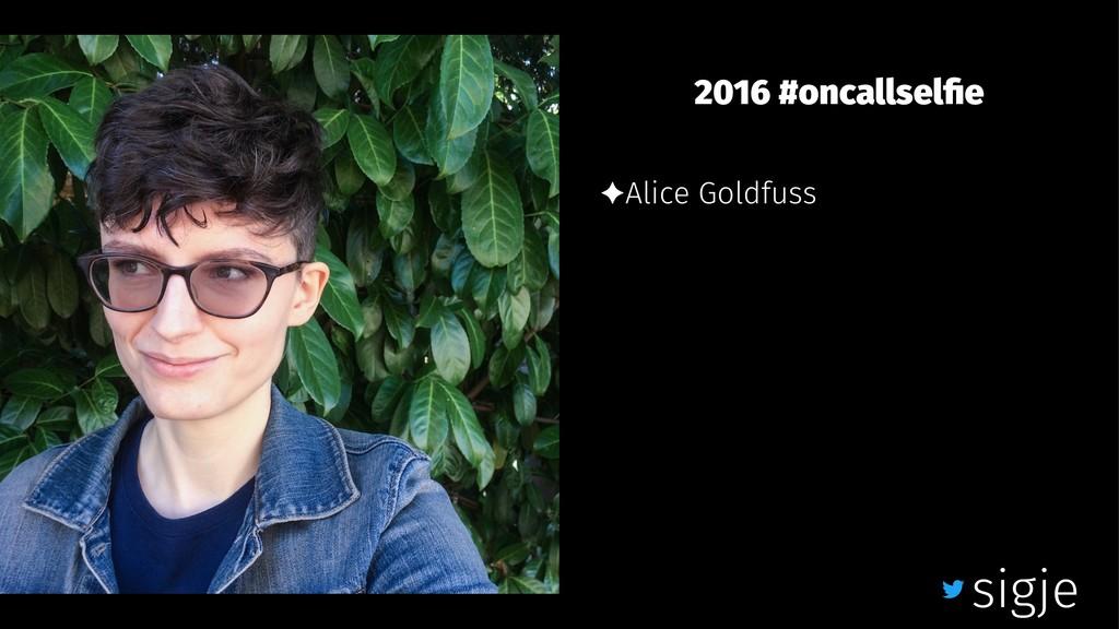 2016 #oncallselfie ✦Alice Goldfuss sigje