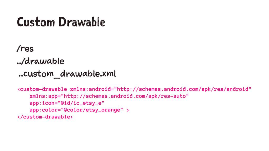 Custom Drawable /res ../drawable ..custom_drawa...