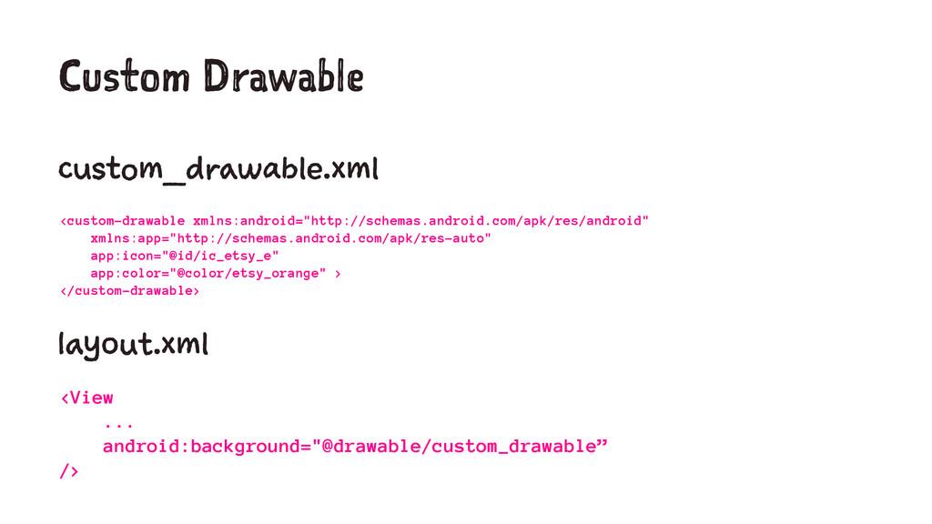 Custom Drawable custom_drawable.xml <custom-dra...