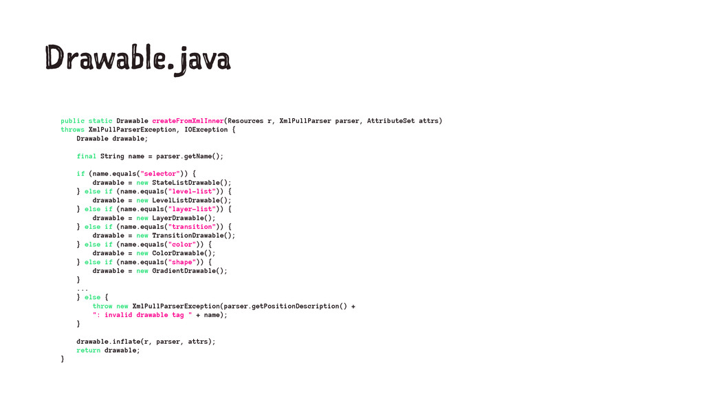Drawable.java public static Drawable createFrom...