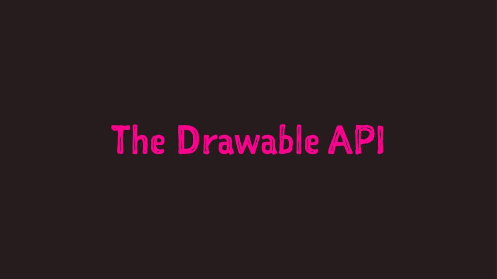 The Drawable API
