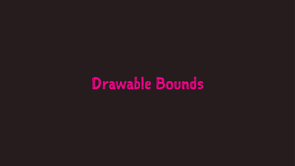 Drawable Bounds