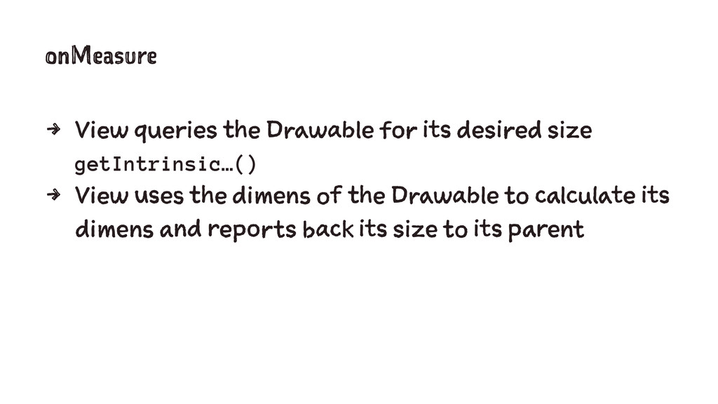 onMeasure 4 View queries the Drawable for its d...