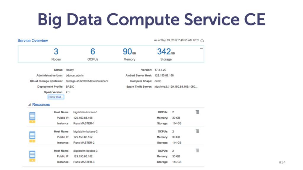 Big Data Compute Service CE munz & more #34