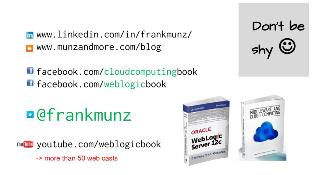 www.linkedin.com/in/frankmunz/ www.munzandmore....