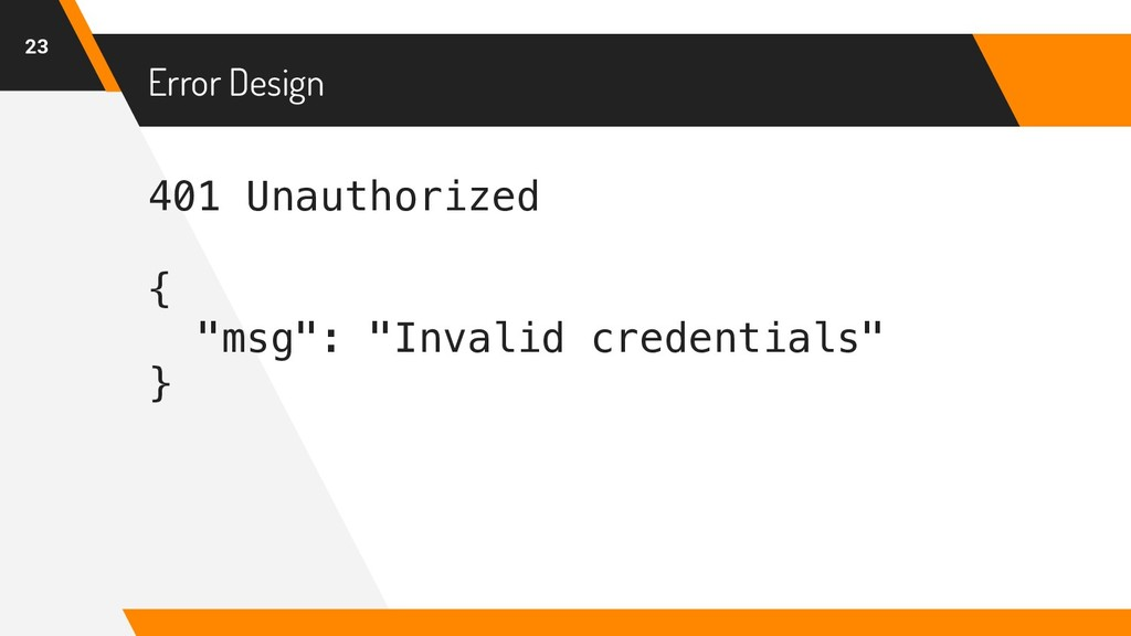 "401 Unauthorized { ""msg"": ""Invalid credentials""..."
