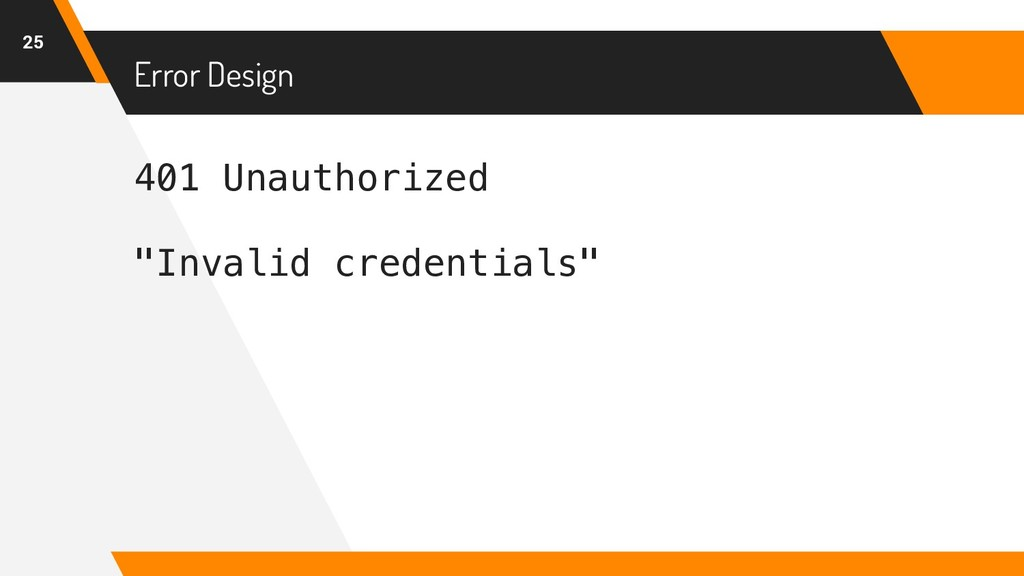 "401 Unauthorized ""Invalid credentials"" Error De..."