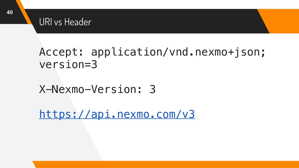 Accept: application/vnd.nexmo+json; version=3 