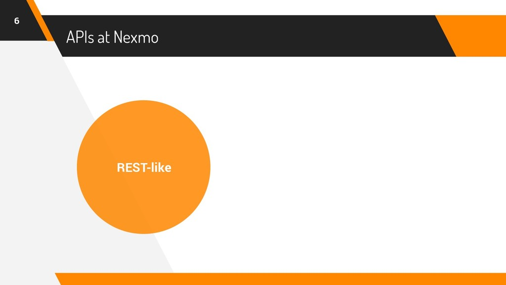 APIs at Nexmo 6 REST-like
