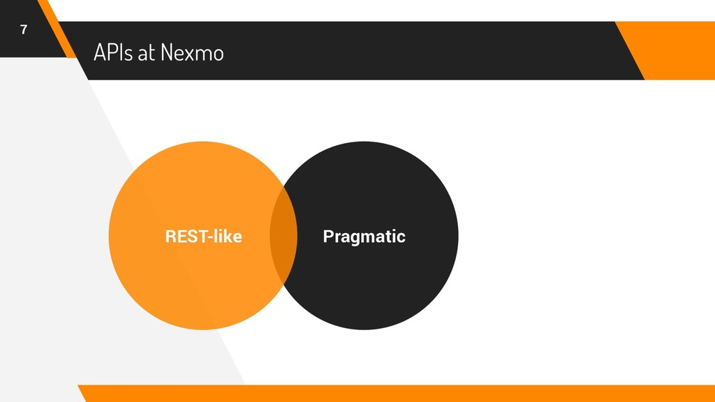 APIs at Nexmo 7 Pragmatic REST-like