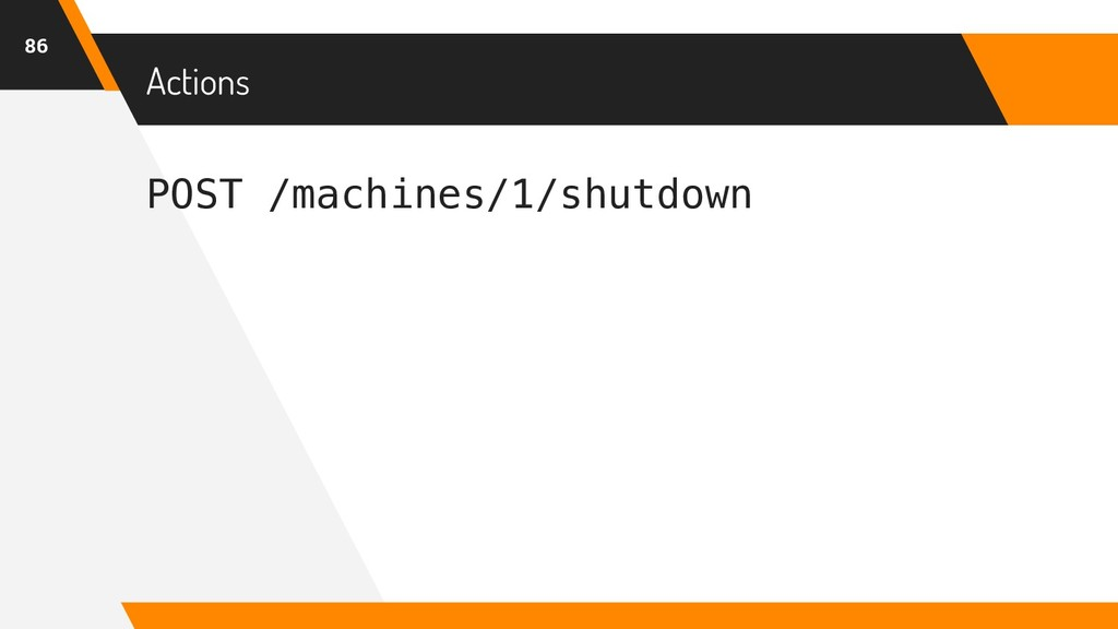 POST /machines/1/shutdown Actions 86