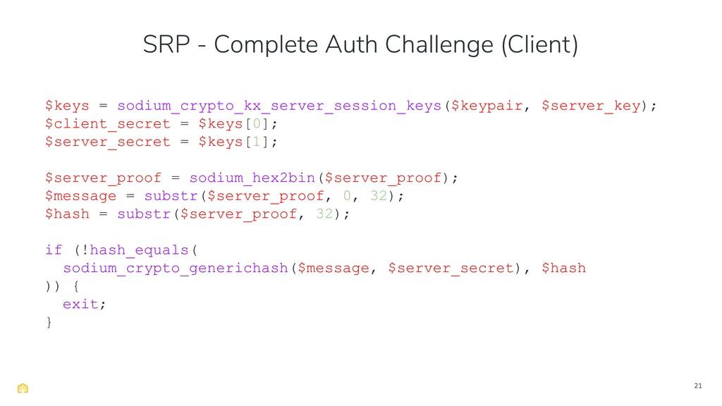 21 $keys = sodium_crypto_kx_server_session_keys...