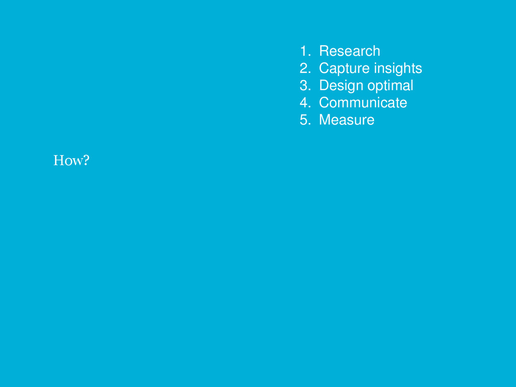 35 How? 1. Research 2. Capture insights 3. Desi...