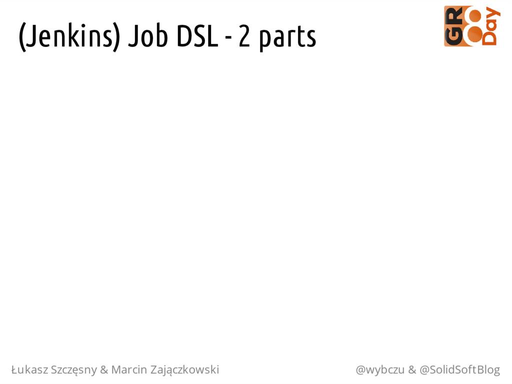 (Jenkins) Job DSL - 2 parts Łukasz Szczęsny & M...