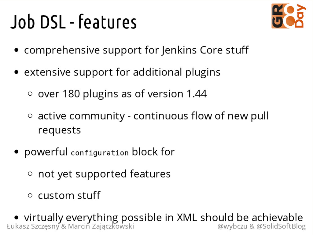 Job DSL - features comprehensive support for Je...