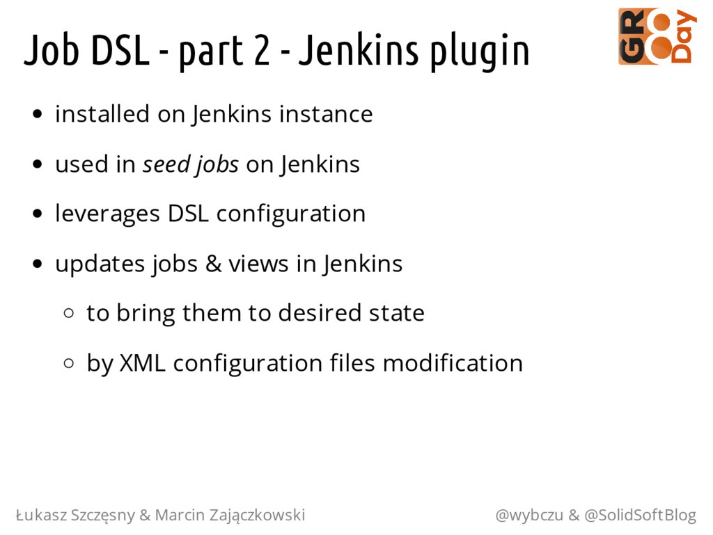 Job DSL - part 2 - Jenkins plugin installed on ...