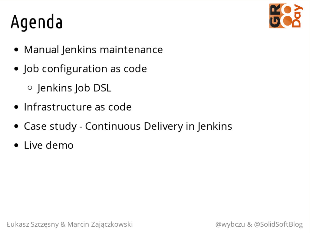 Agenda Manual Jenkins maintenance Job configura...