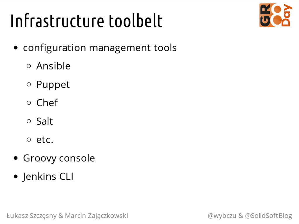 Infrastructure toolbelt configuration managemen...