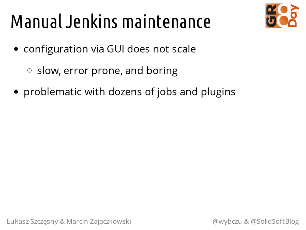 Manual Jenkins maintenance configuration via GU...