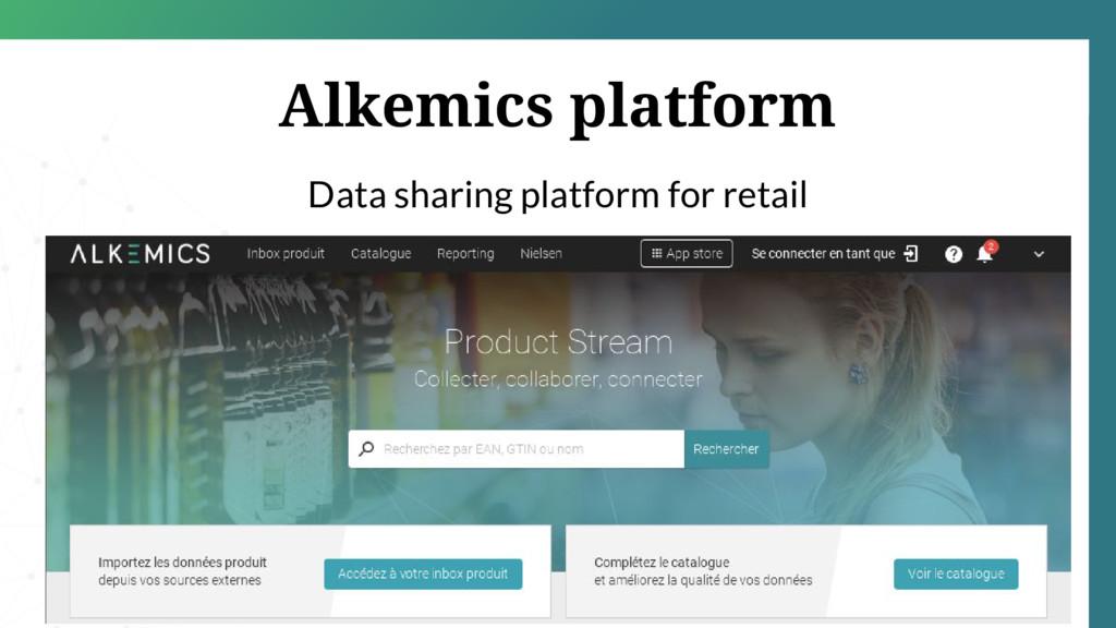 Alkemics platform Data sharing platform for ret...