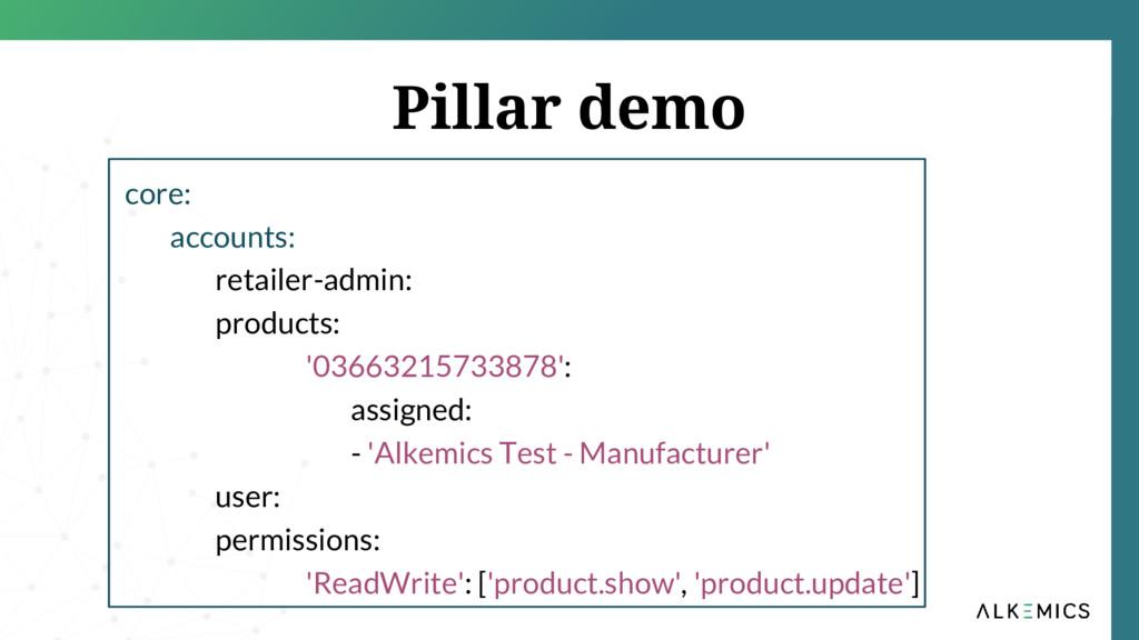 Pillar demo core: accounts: retailer-admin: pro...