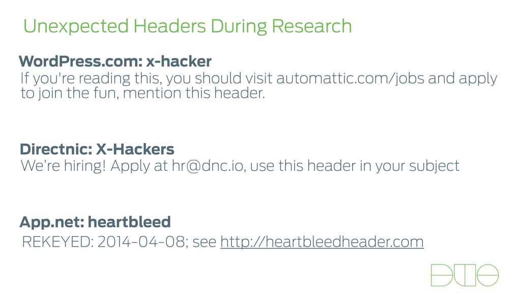 Unexpected Headers During Research If you're re...