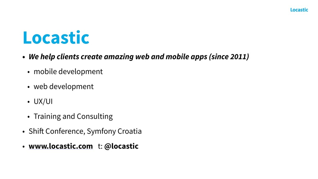 Locastic • We help clients create amazing web a...