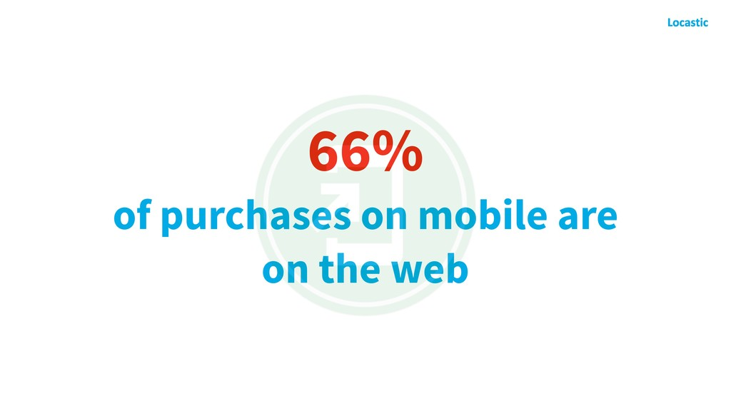 66% of purchases on mobile are on the web