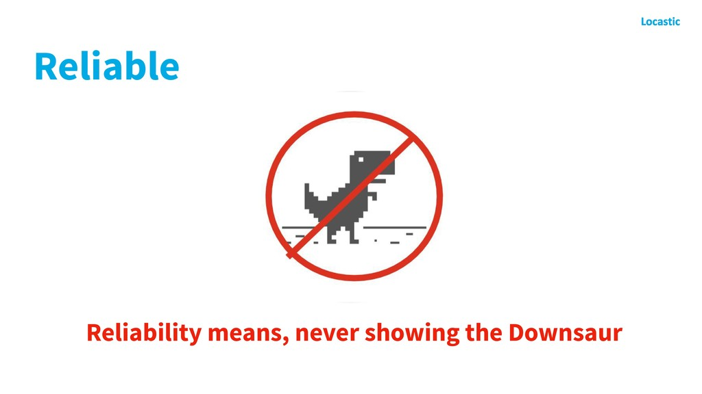 Reliable Reliability means, never showing the D...