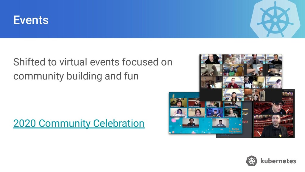 Events Shifted to virtual events focused on com...