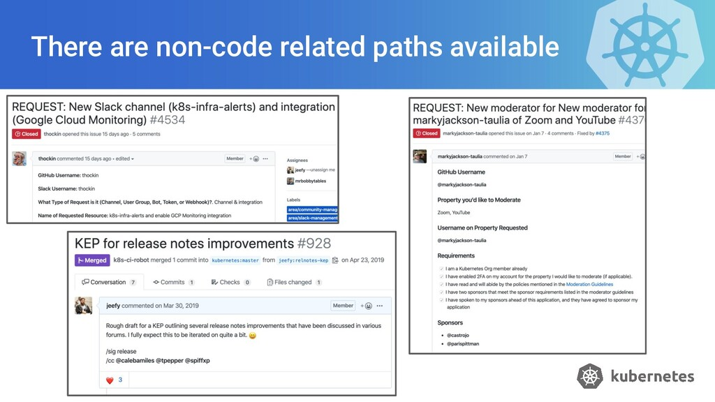 There are non-code related paths available