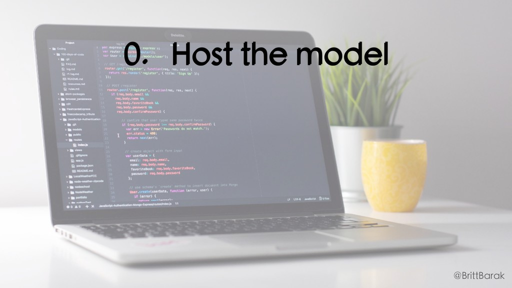 0. Host the model @BrittBarak