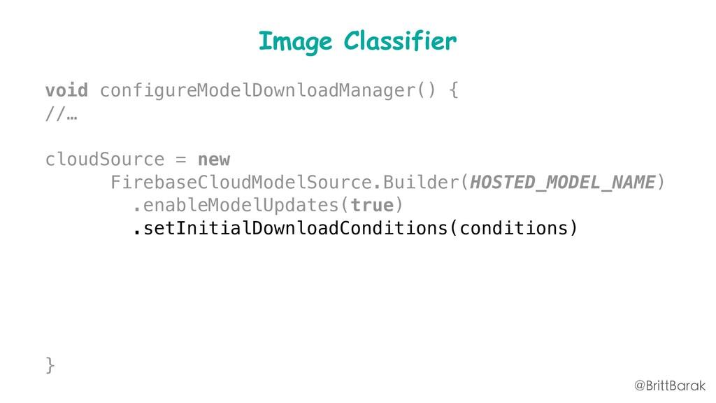 Image Classifier void configureModelDownloadMan...