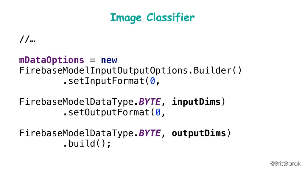 Image Classifier //… mDataOptions = new Firebas...