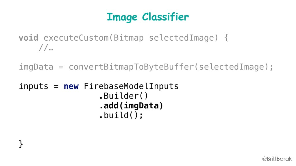 Image Classifier void executeCustom(Bitmap sele...