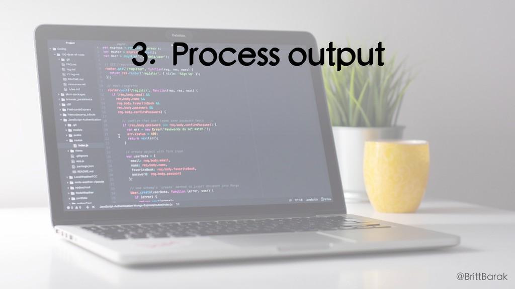 3. Process output @BrittBarak