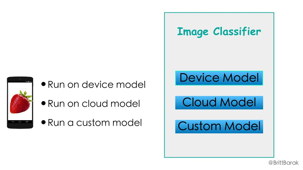 •Run on device model •Run on cloud model •Run a...