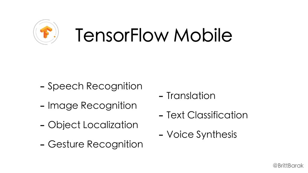TensorFlow Mobile - Speech Recognition - Image ...