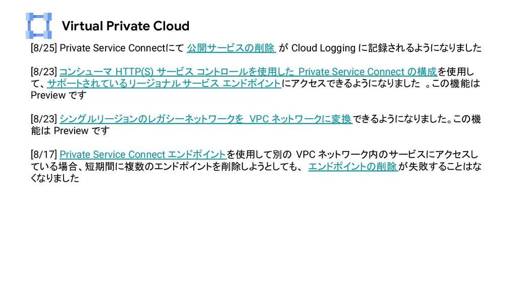 Virtual Private Cloud [8/25] Private Service Co...
