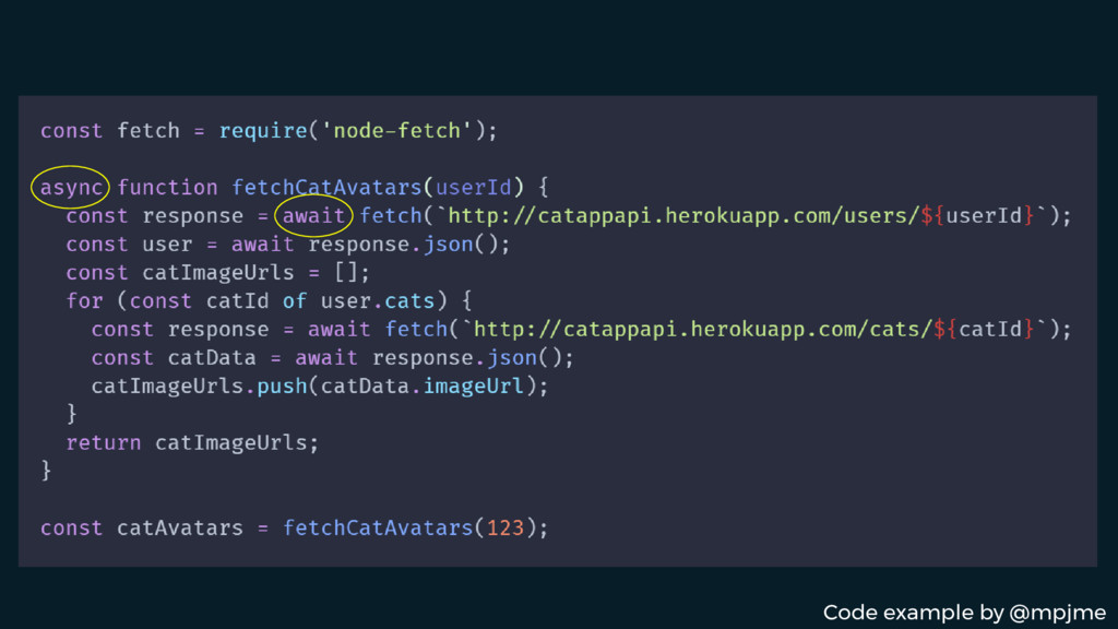 Code example by @mpjme