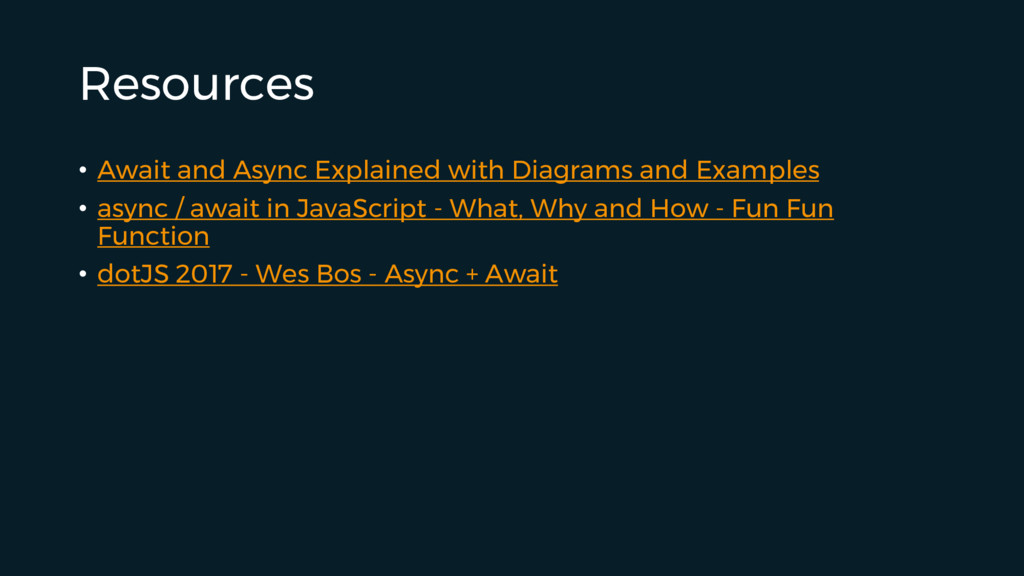 Resources • Await and Async Explained with Diag...
