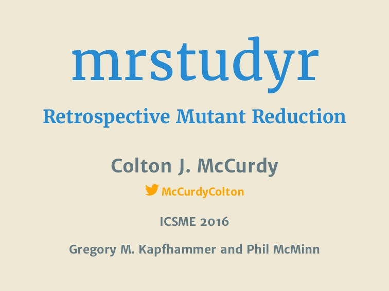 mrstudyr Retrospective Mutant Reduction Colton ...
