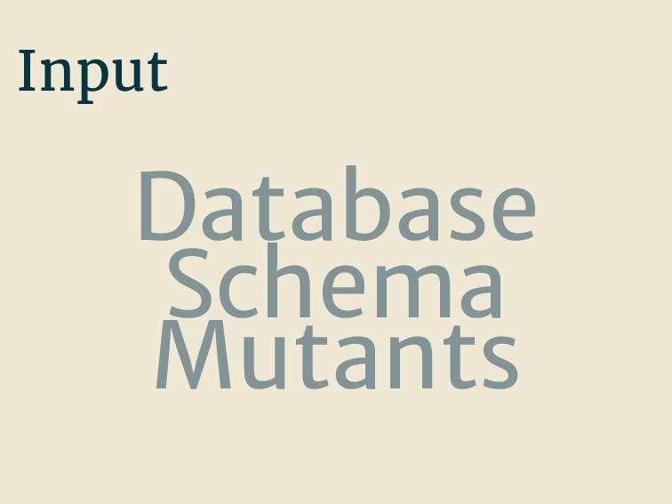 Input Database Schema Mutants
