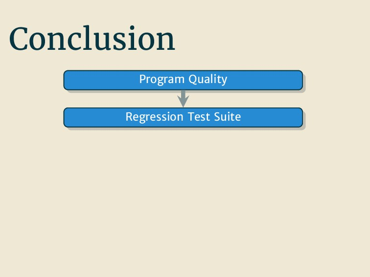 Conclusion Program Quality Regression Test Suite